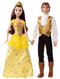 Disney Princess and Prince Belle and Prince Adam Doll Set