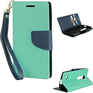 LG LEON 4G LTE H340N/TRIBUTE 2 LS665 DIARY WALLET POUCH TL+NA