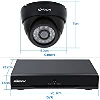 KKmoon 16CH Channel CCTV Surveillance DVR Security System Cloud Network Video Recorder+1TB+16 Indoor Infrared Dome Camera + 16 60ft Cable support IR-CUT Filter Infrared Night Vision Email Alarm