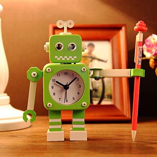 DDUUOO Reloj Despertador Robot De Metal Color Caramelo Reloj Despertador De Dibujos Animados para Estudiantes Reloj Despertador Silencioso Creativo Reloj Despertador Pequeño Y Lindo 2752 Robot Verde: Amazon.es: Hogar