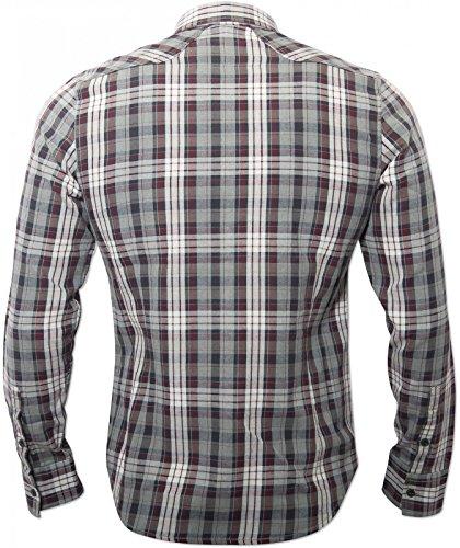 hombre y gris roja para Camisa 883 Cyprez de U104zZqw