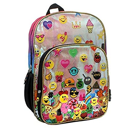 0022404c6d Amazon.com  Emojination Rainbow Emoji Backpack  Sports   Outdoors