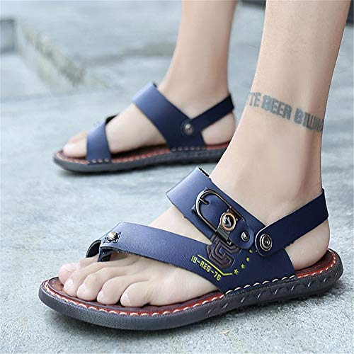 CM 27 Blu Cool Sandalo spiaggia Outdoor Blu Uomo 0 Scarpe Scarpe Traspiranti Pantofole 0 Wagsiyi Leather pantofole Antiscivolo 24 da xZXFzF