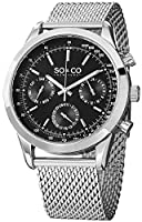 SO&CO York Men's 5006.1 Monticello Analog Display Japanese Quartz Silver Watch from SO&CO New York