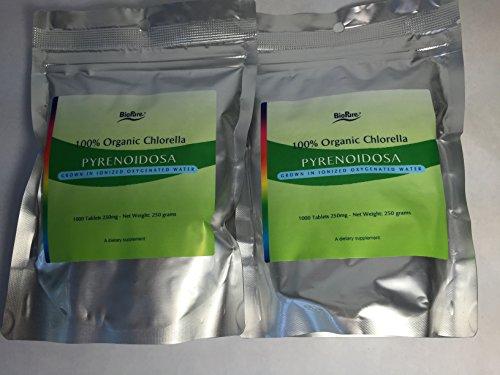 Organic Chlorella Pyrenoidosa (1000) - 2 Packs by BioPure