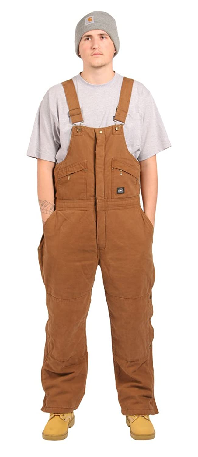 Mens - Insulated Dungarees Bib and Brace - Polar King - Brown