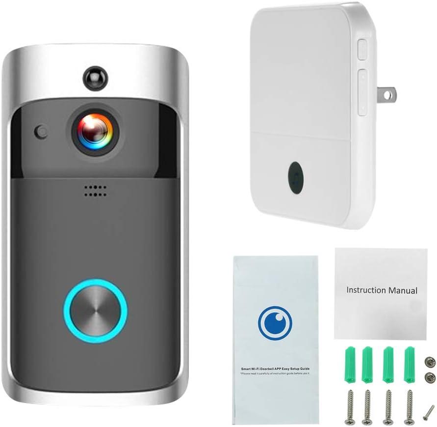 720P Smart Wireless WiFi Door Bell Smart Video Phone Door Visual IR Recording