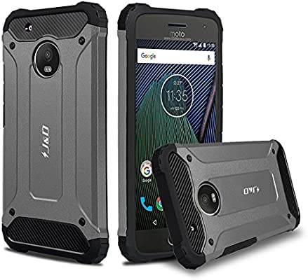 J&D Compatible para Moto G5 Plus Funda, [Armadura Delgada] [Doble ...