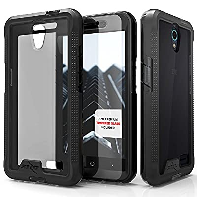 ZTE Avid Trio Case, Zizo [ION Series] with FREE [ZTE Avid Trio Screen Protector] Transparent Clear [Military Grade Drop Tested] for ZTE Avid Trio