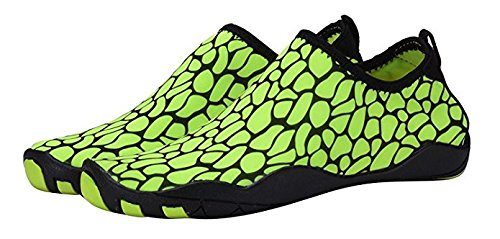 DEMANGO Yoga Schuhe Barfuß Quick-Dry Wassersport Aqua Schuhe Schwimmen Walking Lake Beach Grün