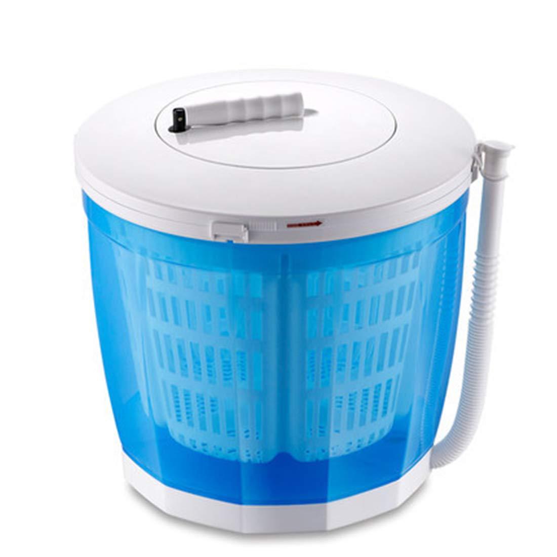 Yeying123 Tragbare Waschmaschine im Freien Camping, manuelle Mini-Waschmaschine mit automatischen Ablenkung Waschmaschinen 2.5Kg,No Power erforderlich,Blue,Ordinary 12369