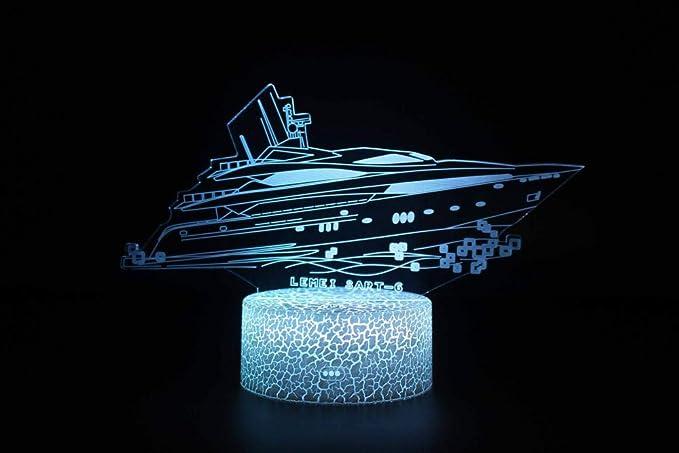 3D Óptico Illusions Led Lámparas Lancha Rapida Led Lámpara ...