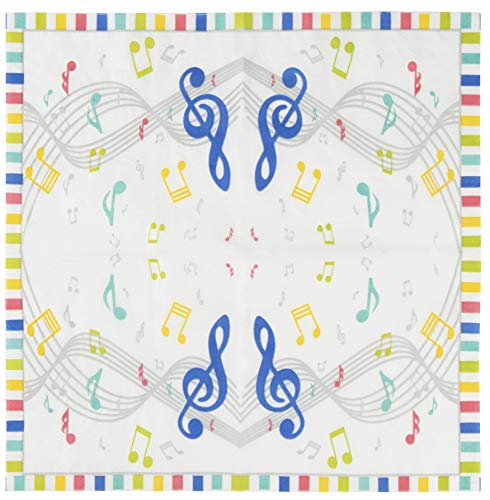 Cocktail Napkins - 150-Pack Luncheon Napkins, Disposable Paper Napkins Music Party Supplies for Kids Birthdays, 2-Ply, Unfolded 13 x 13 Inches, Folded 6.5 x 6.5 Inches by Blue Panda (Image #3)