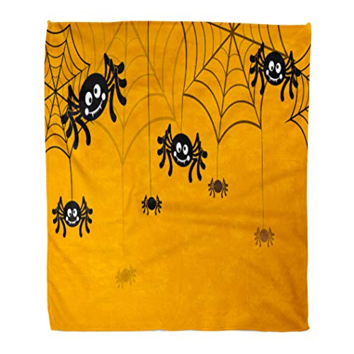 Emvency Throw Blanket Warm Cozy Print Flannel Yellow
