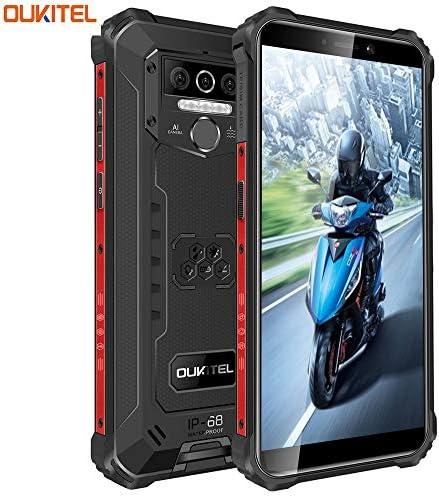 Rugged Cellphone Unlock,OUKITEL WP5 Smartphone 8000mAh Battery Android 10.0 OS 4GB RAM 32GB ROM 13MP Triple Cameras 5.5inch 4G Dual SIM LTE Global Bands Waterproof Stockproof Dustproof GPS OTG