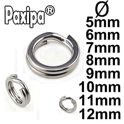 190pcs//Box Stainless Steel High Strength Heavy Duty Ring Fishing Split Rings Kit
