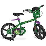 """Bicicleta Aro Hulk Avengers Bandeirante Verde 14"""""""
