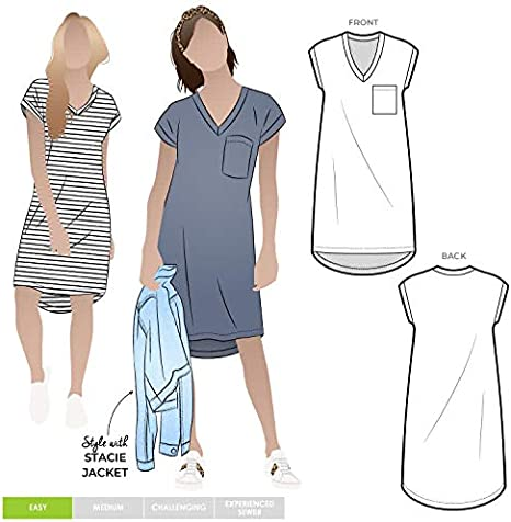 Style Arc Sewing Pattern Click for Other Sizes Available Cruise Club Kim Dress Sizes 18-30