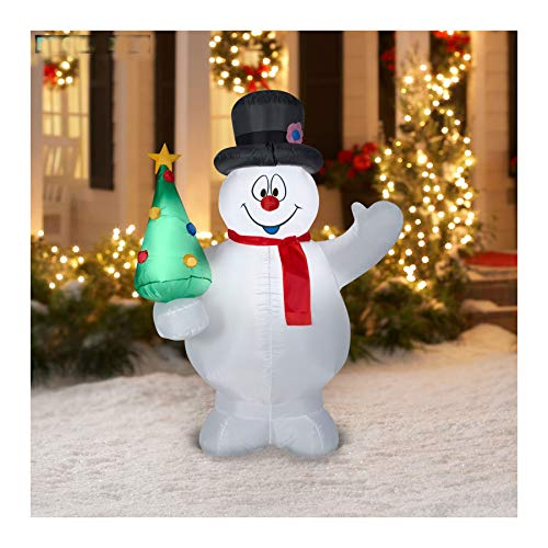 Awesome Shopper 5 Feet Christmas Airblown/Inflatable Frosty The Snowman, Holiday Yard Decoration