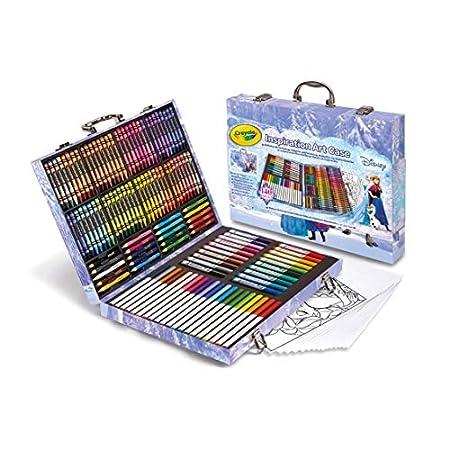 Set valigetta colori Frozen - Disney set colori 140 pezzi - inclusi 15 fogli da colorare frozen