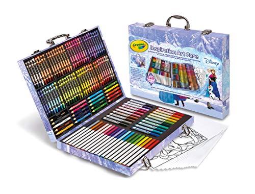 Crayola Frozen Inspiration Art Case, Styles May Vary, 140 Art Supplies, Frozen Gift Set