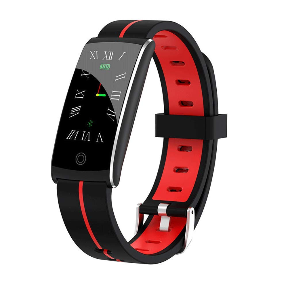 ZLLZ YUNYIN Fitness Tracker, Fitness Tracker Watch with Heart Rate Monitor, Ultra-Thin Touch Screen and Wristband, Wearable Waterproof Activity Tracker for Children and Male Pedometer-red by ZLLZ