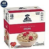 Quaker Instant Oatmeal, Original, 0.98oz Packets (48 Pack)