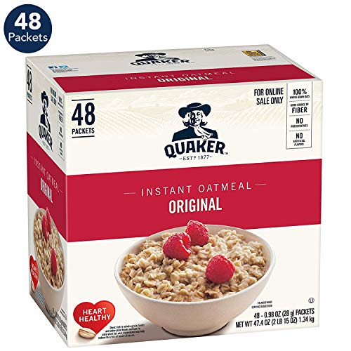 Quaker Instant Oatmeal, Original, 0.98oz Packets (48 - Original Oatmeal