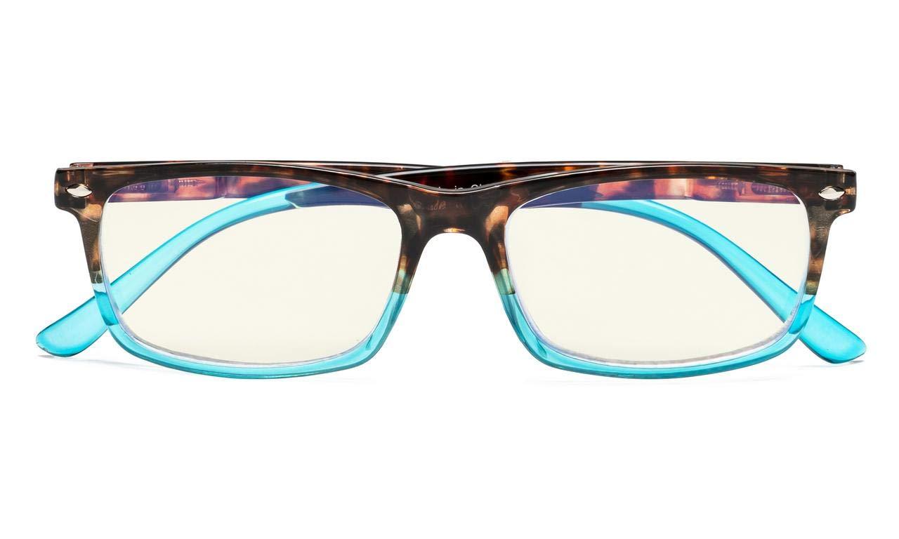 Tartaruga-Blu, 1.75 Eyekepper Occhiali da Lettura Computer Filtro Luce Blu Protezione UV Occhiali da Presbiopia per PC Uomini Donne Montatura di Plastica
