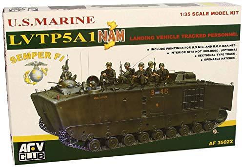 AFV Club 35022 US Marines LVTP-5 Amphibious Transporter Vietnam 1/35 Scale Tank Model Kit ()