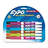 Expo Low Odor Dry Erase Pen Style Markers, 12 Colored Markers (86603), 3-Sets