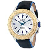 Invicta Men's 12615 Pro Diver Stainless Steel Watch With Black/Blue Leather Strap