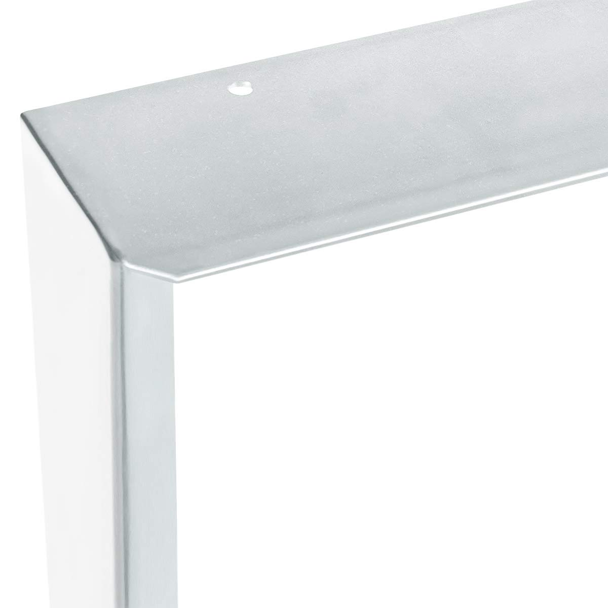 HOLZBRINK 1x Gamba per Tavolo con Profilo In Acciaio 60x20 mm e Piatto 3 mm Bianco Traffico HLT-02-E-CC-9016 Cornice 60x72 cm