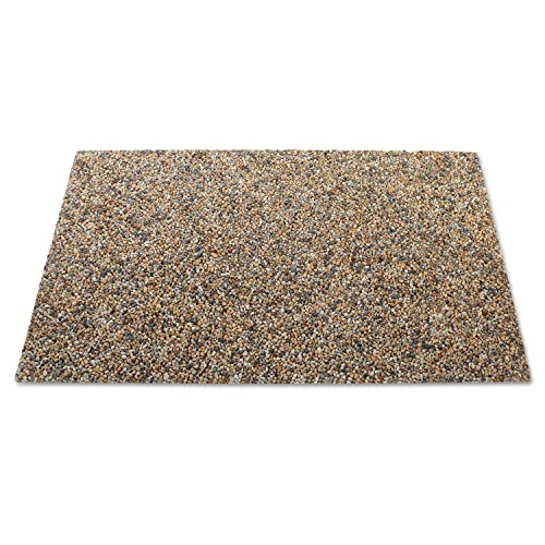 Rubbermaid 4004RIV Landmark Series Panel 34 3/10 x 20 7/10 x 3/8 Stone River Rock 4/Pack
