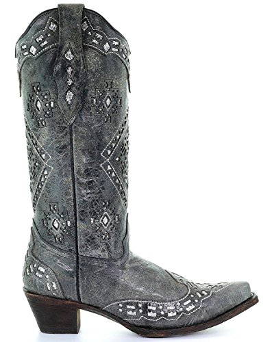 Corral A2963 Black Snip Inlay Boot Glitter Women's Cowgirl Toe prqHpx