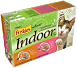 Friskies Selects Indoor Cat Food, Classic Pate 2-Flavor Variety Pack (Chicken and Salmon), 5.5-Ounce Cans (Pack of 24), My Pet Supplies