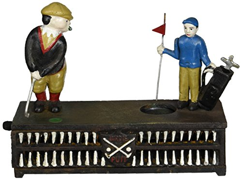(Design Toscano The Golfer Iron Mechanical Bank)