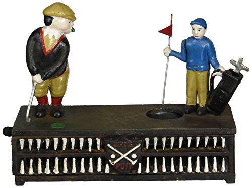 Antique Mechanical Banks - Design Toscano The Golfer Iron Mechanical Bank