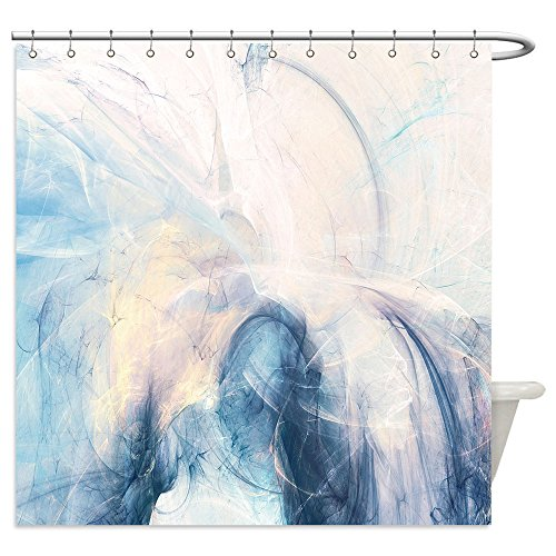 Pottery Barn White Cat Costume (Vanfan Shower Curtains abstract beautiful blue and white soft color background dynamic smoke painting texture modern 574761328 For Bathroom)