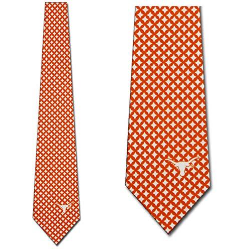 (Texas Longhorns Ties Mens Diamante Necktie by Eagles)