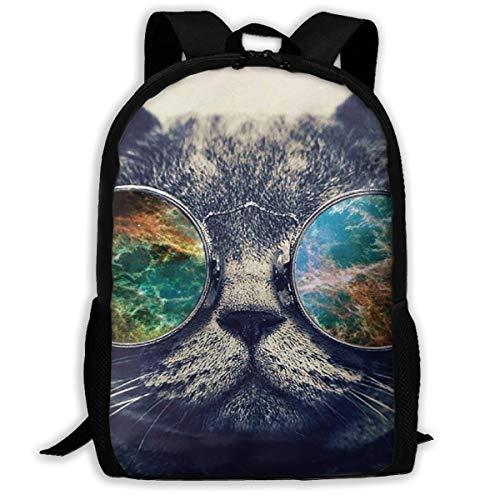 (Backpack For Girls Boys Cashmere Cat Sunglasses Zipper School Bookbag Daypack Travel Rucksack Gym Bag For Man Women)