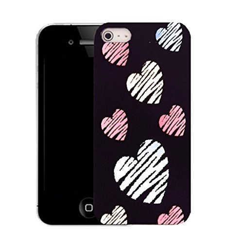 Mobile Case Mate IPhone 5S clip on Silicone Coque couverture case cover Pare-chocs + STYLET - mass sentiment pattern (SILICON)