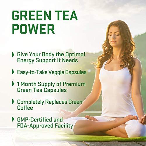 Green Tea Extract Pills for Women & Men – Wite EGCG, Garcinia Cambogia, Green Coffee Bean Energy Support, Antioxidant…