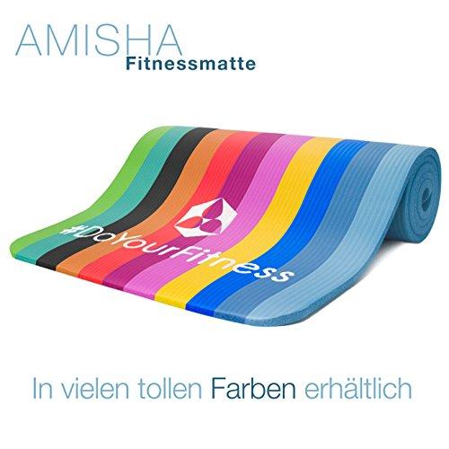 Fitnessmatte »Amisha« / dicke und weiche Sportmatte, ideal für Pilates, Gymnastik und Yoga, Maße: 183 x 61 x 1,2cm / hellblau