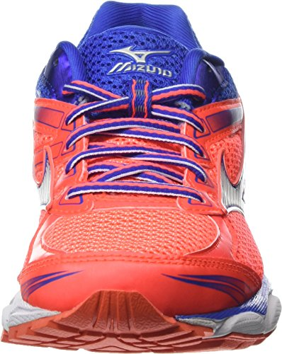 Femme Mizuno Coral De Rose 8 Running Wave Chaussures fiery Ultima white Blue Compétition dazzling 4wrqA04