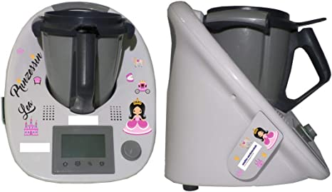 Juego de pegatinas para niños Thermomix + Cookkey TM 5 Princesa: Amazon.es: Hogar