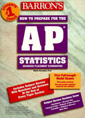 Download Barrons A P Statistics: Advanced Placement Test in