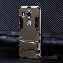 LG Nexus 5X Case, Cocomii Iron Man Armor NEW [Heavy Duty] Premium Tactical Grip Kickstand Shockproof Hard Bumper Shell [Military Defender] Full Body Dual Layer Rugged Cover Google (Gold)