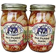 Amish Wedding Foods Hot Pickled Garlic 2 - 15 oz. Jars
