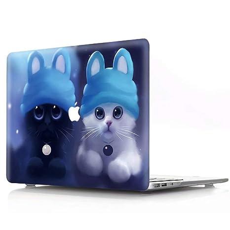 AQYLQ Funda Dura MacBook Pro 13 Pulgadas (Unidad de CD) A1278, Acabado Mate Ultra Delgado Carcasa Rígida Protector de Plástico Cubierta, MHMM-28 Gato ...